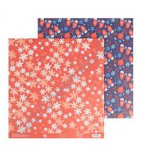 Бумага для скрапбукинга двусторонняя 30.5х30.5 см, 180 гр/м2, лист Варежки