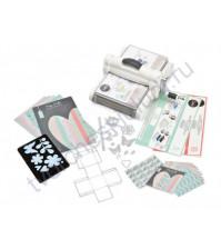 Машинка для эмбоссирования и вырубки Big Shot Plus, набор для начинающих с кардстоком и тканью, формат А4