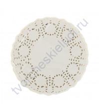 Салфетка бумажная ажурная 9 см, цвет белый, 1 шт