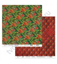 Бумага для скрапбукинга двусторонняя Щелкунчик, 190 гр/м2, 30.5х30.5 см, лист 5
