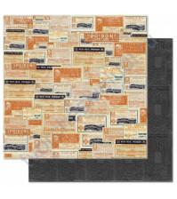 Бумага для скрапбукинга двусторонняя коллекция Happy Haunting, 30.5х30.5 см, 190 гр/м, лист Labels