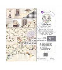 Набор двусторонней бумаги с фольгированием Spring Farmhouse, 30.5х30.5 см, 24 листа (ЦЕНА УКАЗАНА ЗА 1/2 ЧАСТЬ НАБОРА - 12 листов)