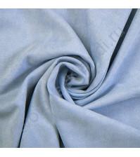 Искусственная замша двусторонняя, плотность 310 г/м2, размер 75х33 см (+/- 2см), цвет небесный голубой