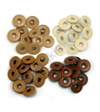 Набор люверсов Memory Keepers с широким ободом 40 шт, оттенки коричневого