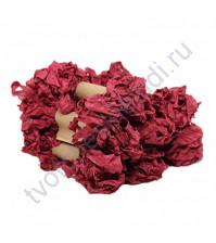 Шебби-лента мятая, Вечерняя роза, ширина 14 мм, 1 метр
