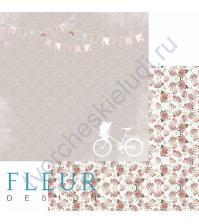 Лист бумаги для скрапбукинга Веселье, коллекция Весенняя, 30х30, плотность 190 гр