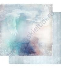 Бумага для скрапбукинга двусторонняя, коллекция Невесомость, лист 003