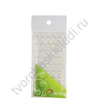 Полужемчужинки клеевые Капли 6х10 мм, 45 шт, цвет белый