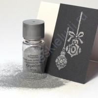 Пудра для эмбоссинга, емкость 10 мл (5 гр), цвет голографическое серебро
