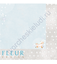 Бумага для скрапбукинга двусторонняя 30.5х30.5 см, 190 гр/м, коллекция Нежный возраст, лист Пузыри