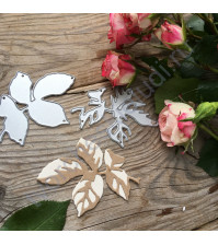 Набор ножей для вырубки Листья розы, 2 элемента