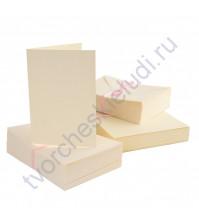 Заготовка для открытки с конвертом, A6, цвет кремовый, 1 шт