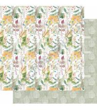 Бумага для скрапбукинга двусторонняя, коллекция PHOTOсинтез, 30х30 см плотность 190г/м, лист Травяной чай