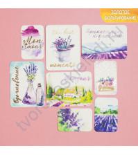 Набор карточек с фольгированием Вохновение, 8 штук
