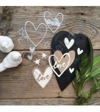 Набор ножей для вырубки Реальная любовь, 6 элементов