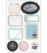 Вырубные формы-стикеры, коллекция Sweet Life, 9 шт