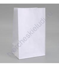 Пакет из крафт-бумаги, 18х12х29 см, цвет белый