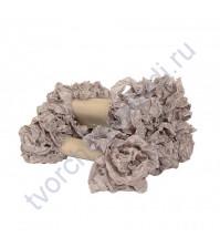 Шебби-лента мятая, Раух топаз, ширина 14 мм, 1 метр