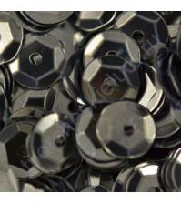 Пайетки круглые с эффектом металлик 6 мм, 10 гр, цвет черный