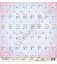 Бумага для скрапбукинга односторонняя DollHouse, 30.5х30.5 см, 190 гр/м, лист DollHouse-9