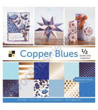 Набор односторонней бумаги с медным фольгированием Copper blues 30.5х30.5 см (ЦЕНА УКАЗАНА ЗА 1/2 ЧАСТЬ НАБОРА)