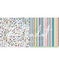 Бумага для скрапбукинга двусторонняя, коллекция 16+, 30.5х30.5 см, 190 гр\м2, лист Одноклассники