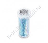 Рубка с круглым отверстием с эффектом бензина, 20 гр, цвет 1163B (голубой)