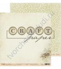 Бумага для скрапбукинга двусторонняя коллекция Ароматы леса, 30.5х30.5 см, 190 гр/м, лист Гнездо