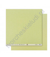 Бумага для скрапбукинга двусторонняя Базовая 30.5х30.5 см, 180 гр/м2, лист Зеленый
