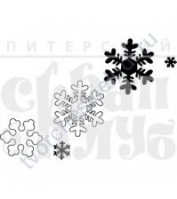 Набор штампов Снежинки, 5 элементов