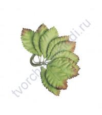 Листья розы однотонные зеленые маленькие 3.5х2 см, 10 шт