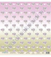 Бумага для скрапбукинга односторонняя DollHouse, 30.5х30.5 см, 190 гр/м, лист DollHouse-8