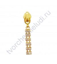 Декоративный элемент Бегунок Дорожка, 11х52 мм, цвет золото