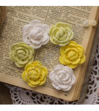 Набор вязаных цветов Лимонная свежесть, 6 шт