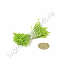Тычинки двусторонние маленькие, 80 шт, цвет прозрачный зеленый
