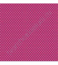 Кардсток односторонний текстурированный Белый горох, 30.5х30.5 см, 216 гр/м, цвет яркий розовый