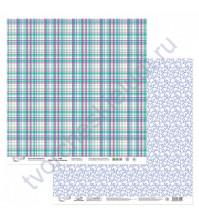 Бумага для скрапбукинга двусторонняя Мята-Лаванда, 190 гр/м2, 30.5х30.5 см, лист 2