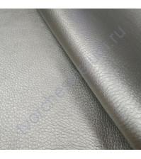Кожзам с фактурой на тканевой основе плотность 360 гр/м2, 35х50 см, цвет серебро