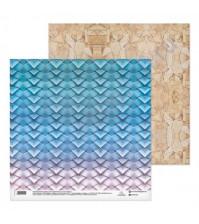 Бумага для скрапбукинга двусторонняя коллекция Красота мгновения, 30.5х30.5 см, 180 гр/м2, лист Плетеная корзинка