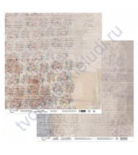 Бумага для скрапбукинга двусторонняя Наша история, 190 гр/м2, 30.5х30.5 см, лист 6