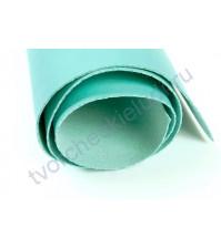 Кожзам переплетный на полиуретановой основе плотность 300 гр/м2, 35х50 см, цвет 13-мятный