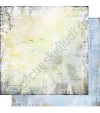 Бумага для скрапбукинга двусторонняя, коллекция Городская симфония, лист 002