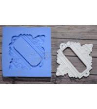 Форма силиконовая (молд) для полимерной глины, Рамка с местом для записи прямоугольная, 55х65 мм