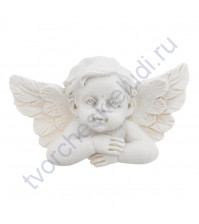 Фигурка из пластика Ангел-хранитель, 30х50 мм, цвет белый
