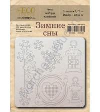 Набор чипборда Снежинки, коллекция Зимние сны, 7 элементов