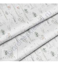 Ткань для рукоделия Березы, 100% хлопок, плотность 150 гр/м2, размер отреза 50х40 см