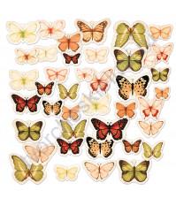 Набор высечек (вырубок) Бабочки винтажные, плотность 190 гр/м