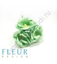 Цветы Магнолии светло-зеленые, размер цветка 4 см, 3 шт