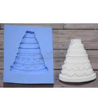 Форма силиконовая (молд) для полимерной глины, Торт, 40х50 мм