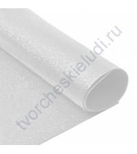 Фоамиран с глиттером, 2 мм, формат А4, цвет белоснежный блеск